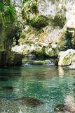Morigerati Oasis. The gorges of river Bussento, in the nature reserve of Morigerati, in Cilento National Park, Salerno province, Campania, Italy Royalty Free Stock Photography