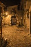 Morigerati, pequeño pueblo encantador en Italia meridional Foto de archivo libre de regalías