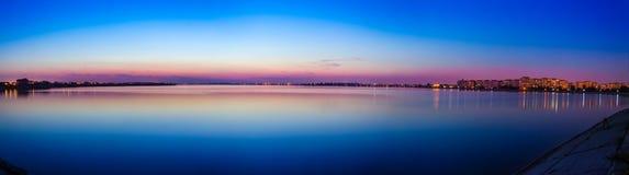 Morii's Lake Panorama. A beautiful panorama of Morii's Lake Royalty Free Stock Photography