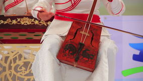 Morin Khuur, Mongolian bowed stringed instrument. Stock Photos