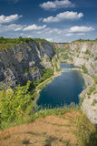 Morina quarry 2. Former limestone quarry Morina,central Bohemia Royalty Free Stock Image