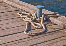 Moring rope Royalty Free Stock Photo