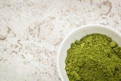 Moringa σκόνη φύλλων Στοκ Εικόνες