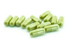Moringa capsule pills Stock Photography