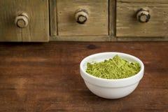 Moringa leaf powder stock photography