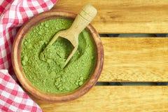 Moringa oleifera proszek zdjęcie stock
