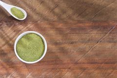 Moringa poeder - oleifera Moringa Hoogste mening Stock Foto