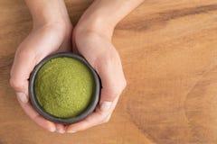 Moringa powder - moringa oleifera royalty free stock image