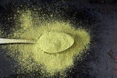 Moringa powder Royalty Free Stock Photo