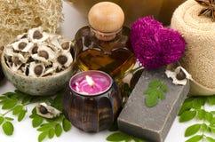 Moringa Soap mix Honey. From natural raw materials Stock Photos