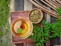 Moringa ziołowa herbata fotografia stock