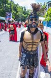 2018 Moriones Festival. BOAC , PHILIPPINES - MARCH 30 : Participants in the Moriones festival in Boac Marinduque island the Philippines. The Moriones festival Royalty Free Stock Images