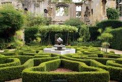 Morisk mosaikspringbrunn, Sudeley slott, England Arkivbild