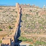 Morisk slott, Almeria, Andalusia, Spanien Arkivfoton