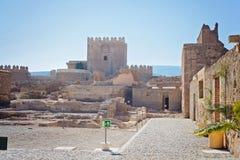 Morisk slott, Almeria, Andalusia, Spanien Arkivbild
