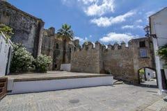 Morisk slott av Vejer de la Frontera i Andalucia Royaltyfri Foto