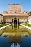 Morisk slott i Granada Royaltyfri Fotografi