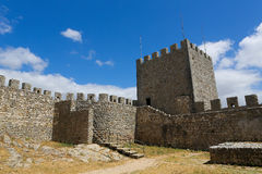 Morisk slott i Sesimbra Arkivfoto
