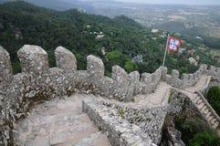 Morisk slott i Sintra Arkivfoto