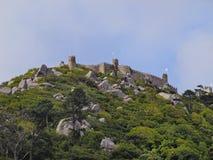 Morisk slott i Sintra Royaltyfria Foton