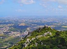 Morisk slott i Sintra Royaltyfria Bilder