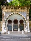 Morisk vattenspringbrunn i Sintra Fotografering för Bildbyråer