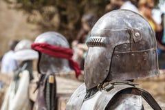 Moriska och kristna krigare armerar Arkivfoto
