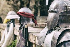 Moriska och kristna krigare armerar Arkivbild