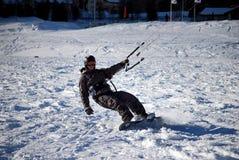 moritz snowkiting st Obrazy Stock