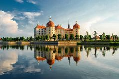 Moritzburg Castle Moritzburg Palace Baroque, German state of Saxony stock photo