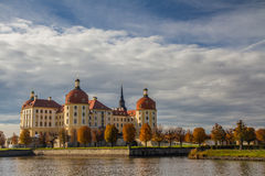 Moritzburg Castle with Water Reflection-Germany Stock Photography