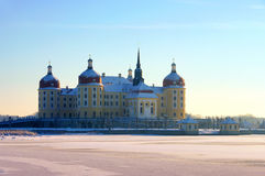 Moritzburg Castle in winter Royalty Free Stock Images
