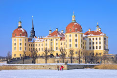 Moritzburg Castle in winter Stock Image