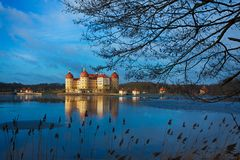 Moritzburg Kasztel Obrazy Royalty Free