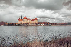 Moritzburg kasztel w jesieni Zdjęcie Stock