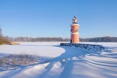 Moritzburg Leuchtturm im Winter Lizenzfreie Stockfotos