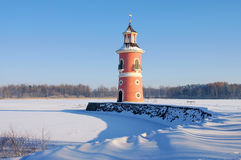 Moritzburg lighthouse in winter Royalty Free Stock Images