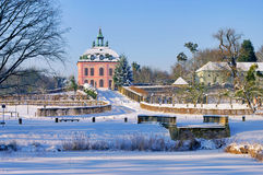 Moritzburg Little Pheasant Castle in winter Stock Photos