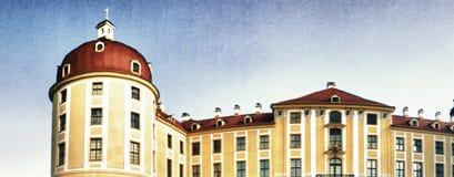 MORITZBURG NIEMCY, LIPIEC, - 2016: Panoramiczny widok Moritzburg Ca Obrazy Royalty Free