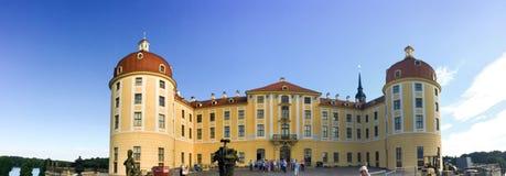 MORITZBURG NIEMCY, LIPIEC, - 2016: Panoramiczny widok Moritzburg Ca Fotografia Royalty Free