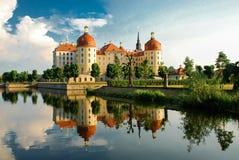 Moritzburg-Schloss Moritzburg-Palast barock, deutscher Staat von Sachsen lizenzfreies stockbild