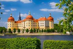 Moritzburg slott på vår Royaltyfri Foto