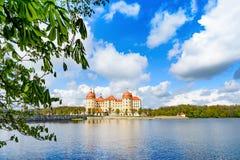 Moritzburg slott på våren Arkivbilder