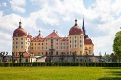 Moritzburg slott, uppehåll av valmännen av det Sachsen huset av Wettin Arkivfoto