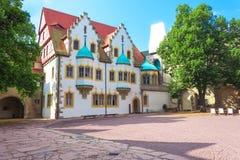 Moritzburg, Yard von Moritzburg lizenzfreie stockbilder
