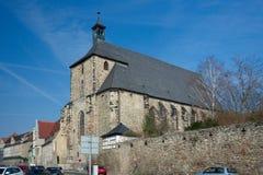 Moritzkirche, Halle, Duitsland Royalty-vrije Stock Afbeeldingen