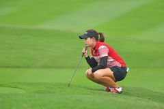 Moriya Jutanugarn in Honda LPGA Thailand 2018. Moriya Jutanugarn of Thailand in Honda LPGA Thailand 2018 at Siam Country Club, Old Course on February 24, 2018 in Stock Image