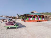 Morjim plaża, Goa, India fotografia stock