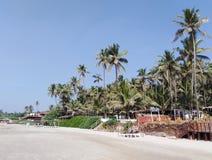 Morjim plaża, Goa, India zdjęcie stock