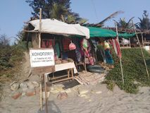 Morjim wioska, Goa, India fotografia stock